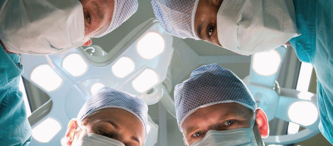 Na hora da cirurgia