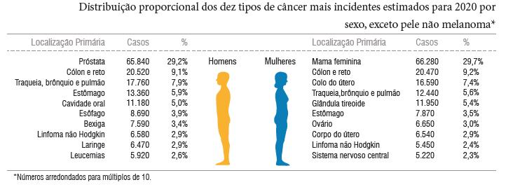 casos de cancer no Brasil